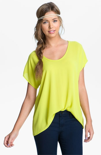 Lush Woven Tee #Nordstrom