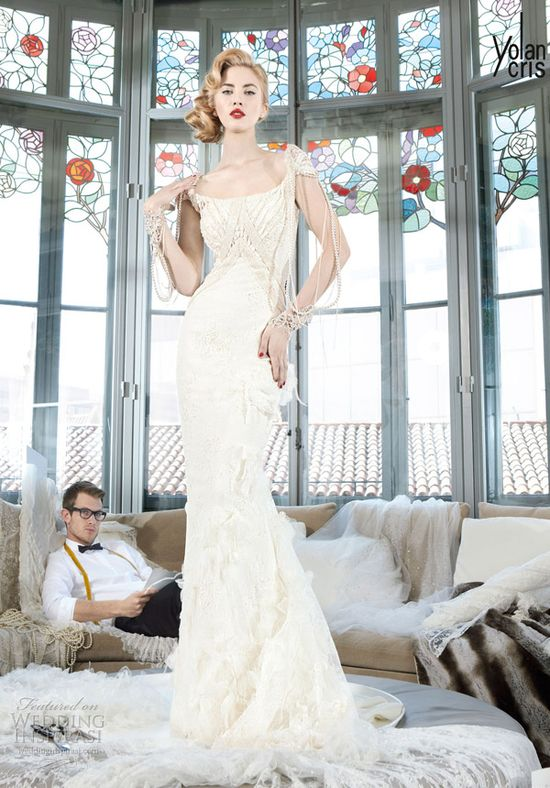 yolancris 2013 couture bridal nantes wedding dress