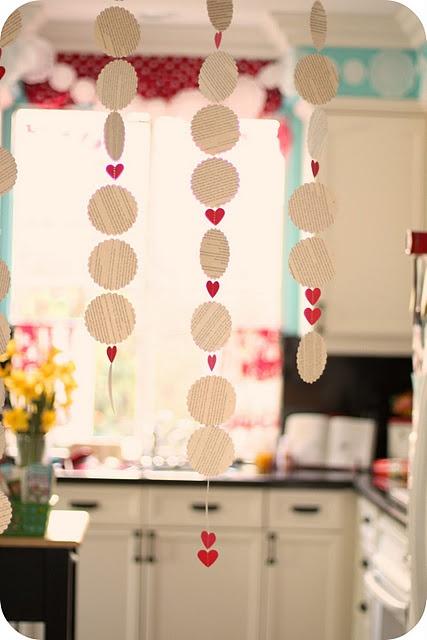 super cute valentine's garlands