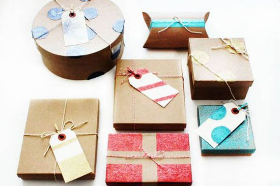glitter gift wrapping