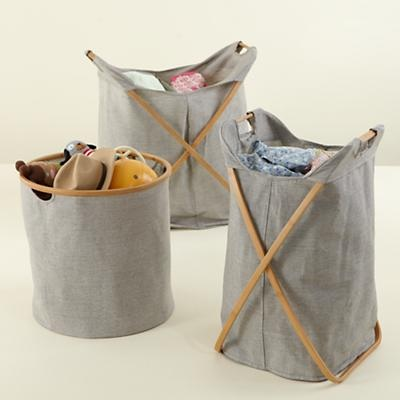 Nice looking hampers to hold blankets