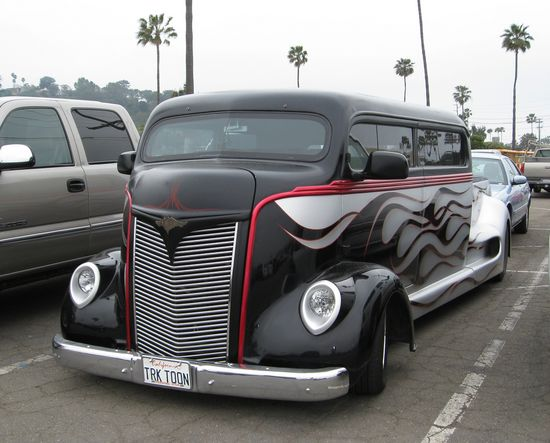 1947 Ford COE Stretched, perfect for staying at every car show you want to travel to, plus the car can ride on the back