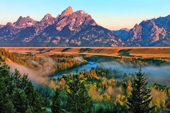 Snake River in Jackson Hole, Wyoming