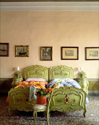 Painted French beds