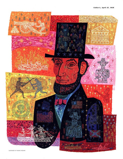 Abe Lincoln by Thomas Vroman 1956