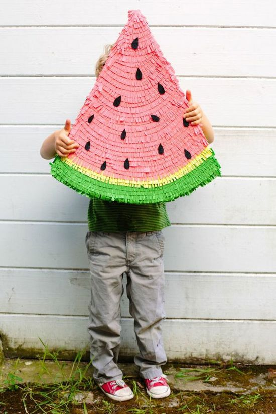 Adorable! Watermelon Pinata from Oh Happy Day!