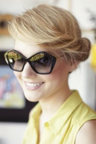 An adorable updo to help you survive the summer heat.