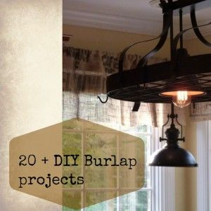 #diy, #burlap projects, #burlap #pillows,#coasters, #curtains and more