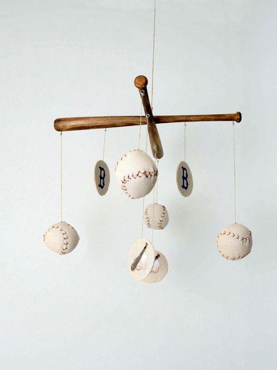 Baseball Nursery Mobile - Vintage Inspired.  via Etsy.