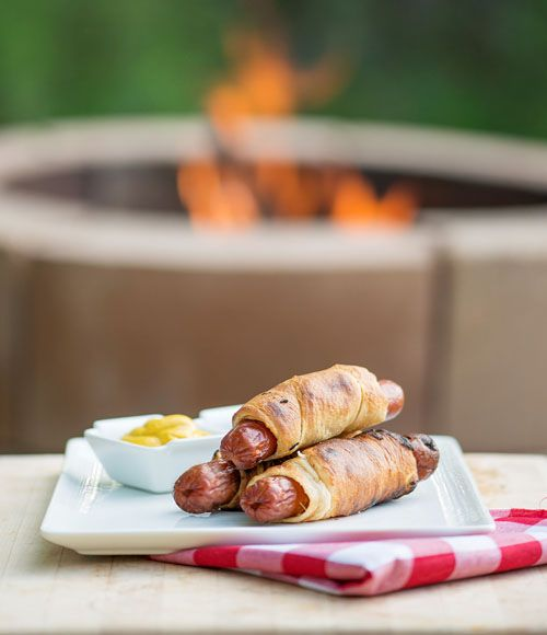 Campfire Crescent Dogs #easy #recipe #camping