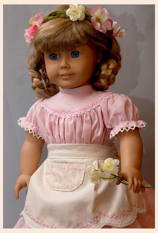 "Pretty Pioneer Pattern- for American Girl 18"" Dolls Dollhouse Designs $9.98"
