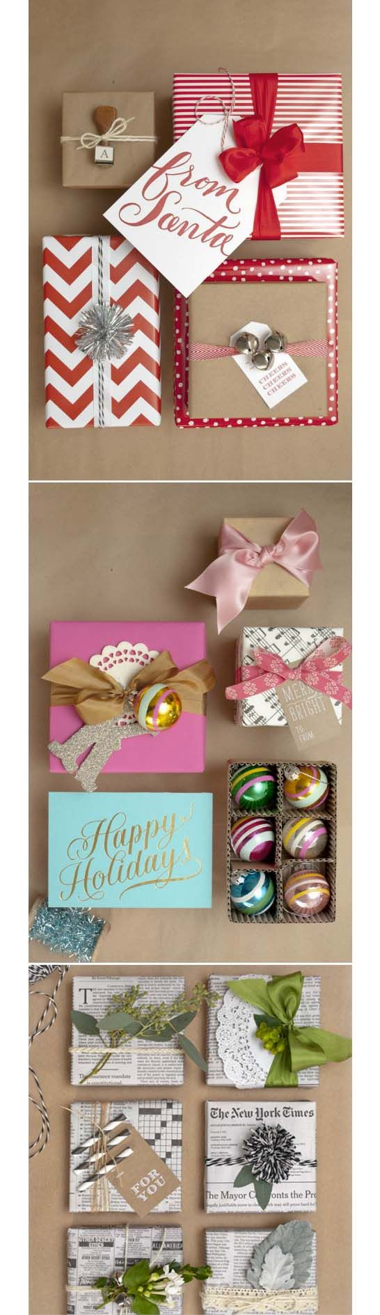 gift wrapping essentials.. If only my gifts looked like this!! #christmas #gifts #wrapping #holidays #winter #decor #crafts #diy