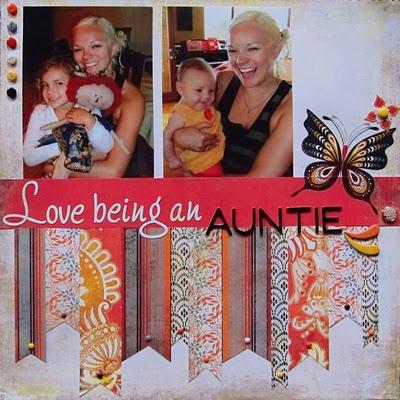 #papercraft #scrapbook #layout    Love Being an Auntie