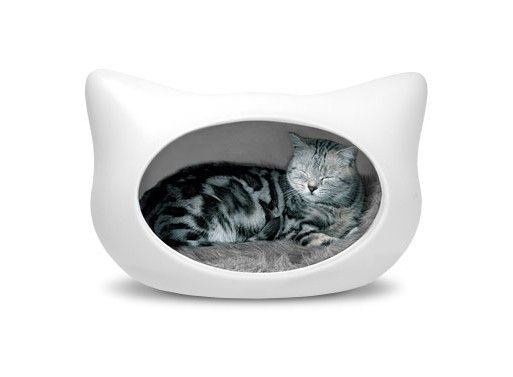 cat head cat bed