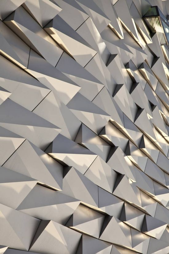 Interesting Facade  Titanic Belfast by Todd Architects  Located in Northern Ireland
