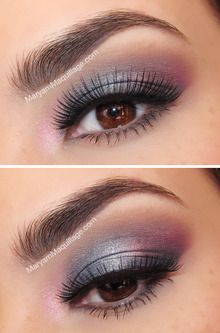 Such pretty eye makeup...