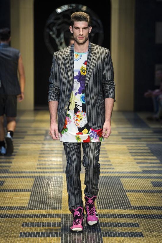 #Flower #Print - Versace Men's Spring Summer 2013