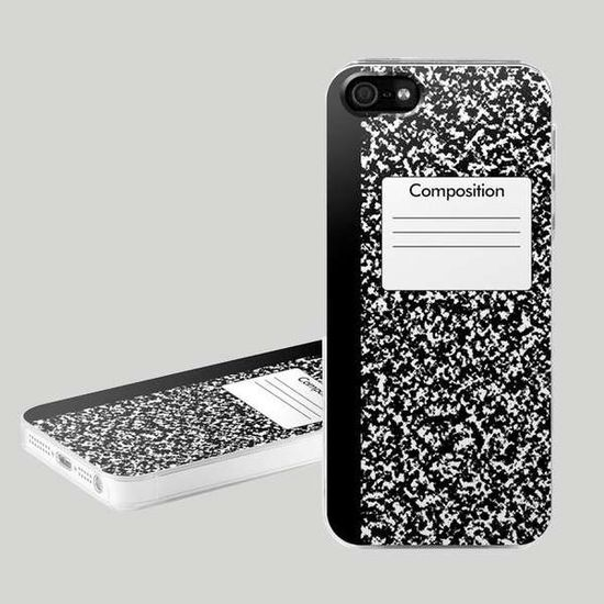 composition notebook iphone case