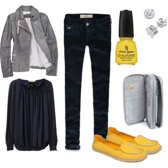 """""""Touch of Yellow"""" outfit"""