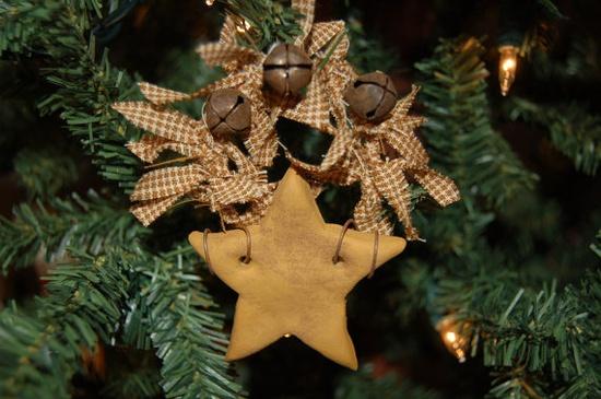 Primitive Christmas Ornament, Star