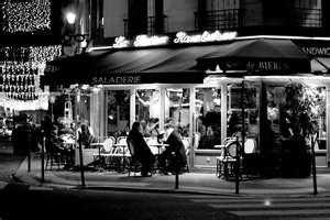 Paris Cafe Night