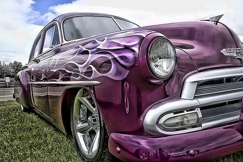 purple cars   Sweet !