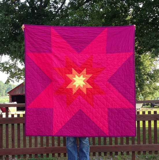 Star in a star in a star quilt