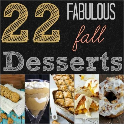 22 Fabulous for Fall Desserts. This could be a good option to add to a dessert buffet for a fall wedding!