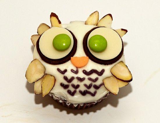Owl Cupcake...!