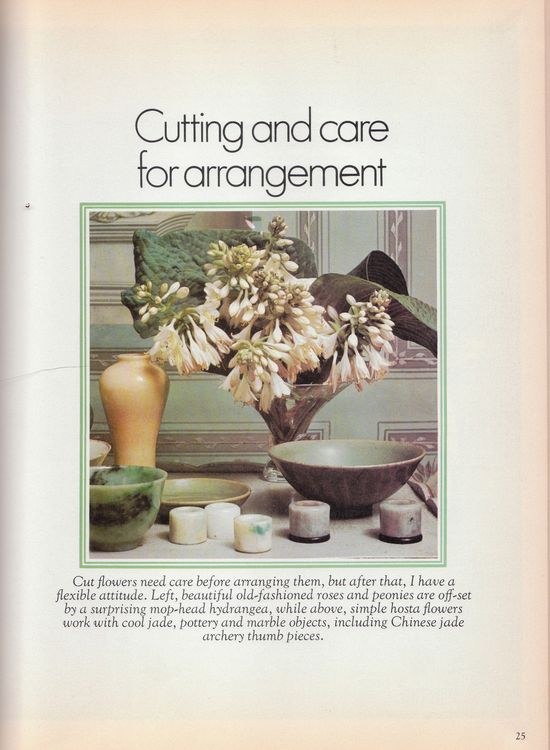 THE DAVID HICKS BOOK OF FLOWER ARRANGING 1976
