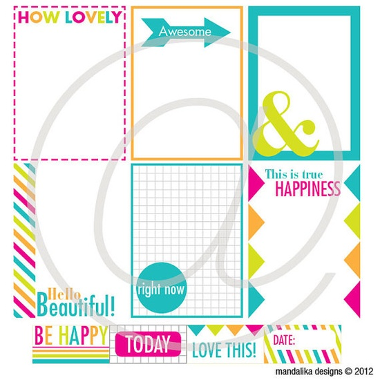 Cute journalling cards from Mandalika Designs
