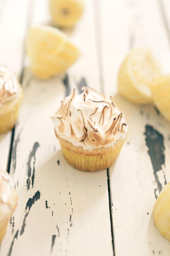 Lemon Meringue Cupcakes at Chasing Delicious