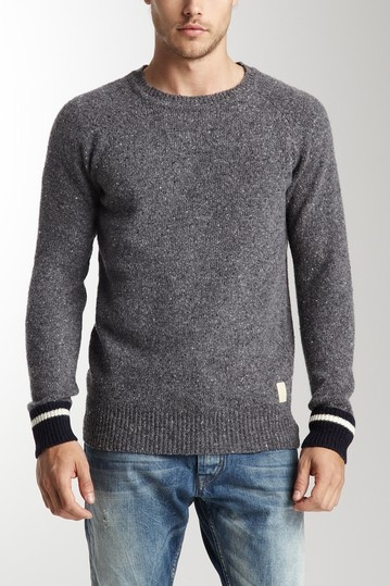 Scotch & Soda Long Sleeve Crew Neck Pullover