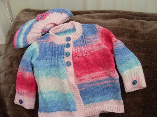 unique hand made made baby coat and matching by littlepeoplesglory, £10.75
