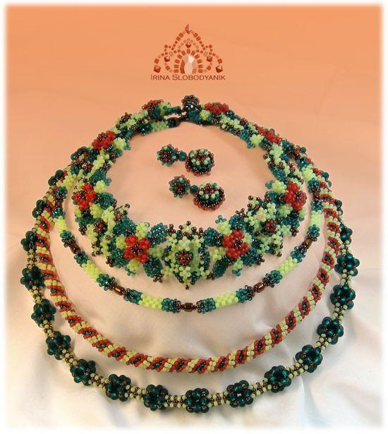 GORGEOUS seed bead jewelry beading scheme