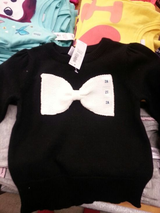 Baby girl bow sweater from old navy