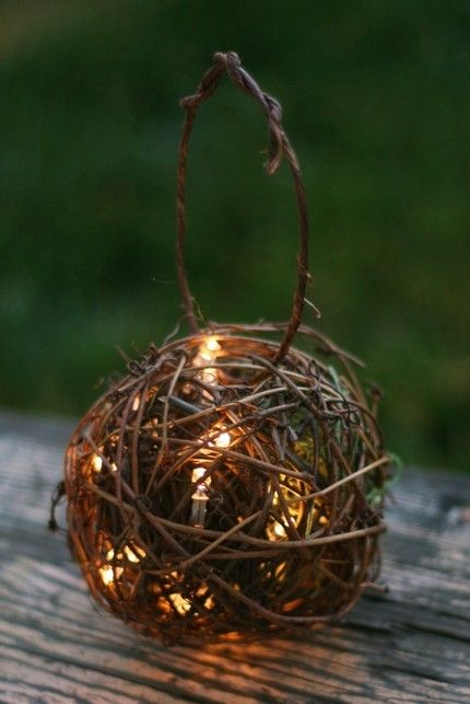 I could totally make these!   SET OF 6 Outdoor Rustic Wedding Decoration Candles by braggingbags, $115.00