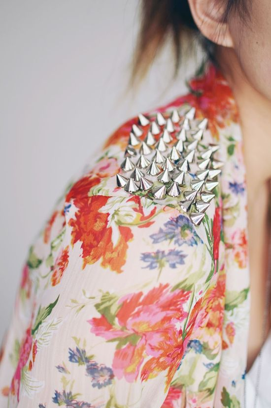 florals and studs