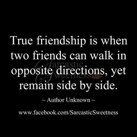 Very true, literally as well. To the group of friends that have always been more like family (you know who you are:). Whether it's a week, a month, a year or two between our visits or phone calls, the bond and closeness never fades....I ? you.