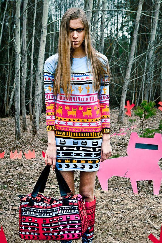 Blue Tribe dress, QooQoo Fashion