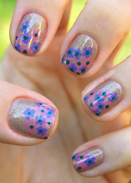Floral Cluster Nail Art  nailartpaintersp....