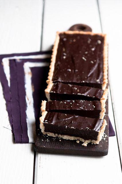 Lavender Dark Chocolate Tart by stephsus