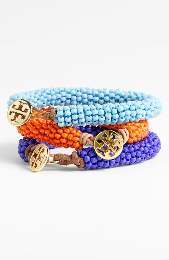 Tory Burch Bead Bracelets.  Love these.