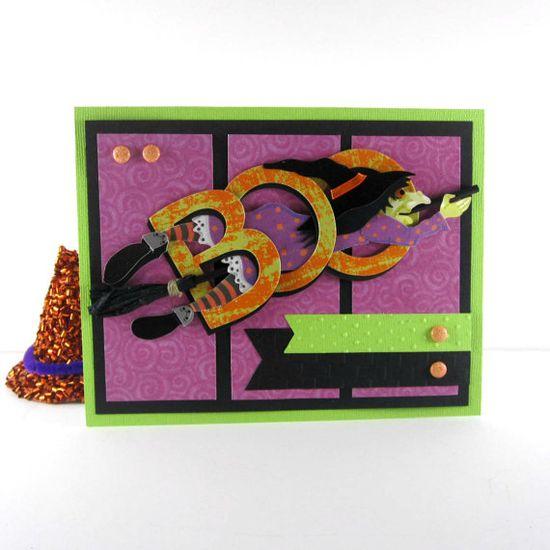 Halloween witch, Handmade Halloween card