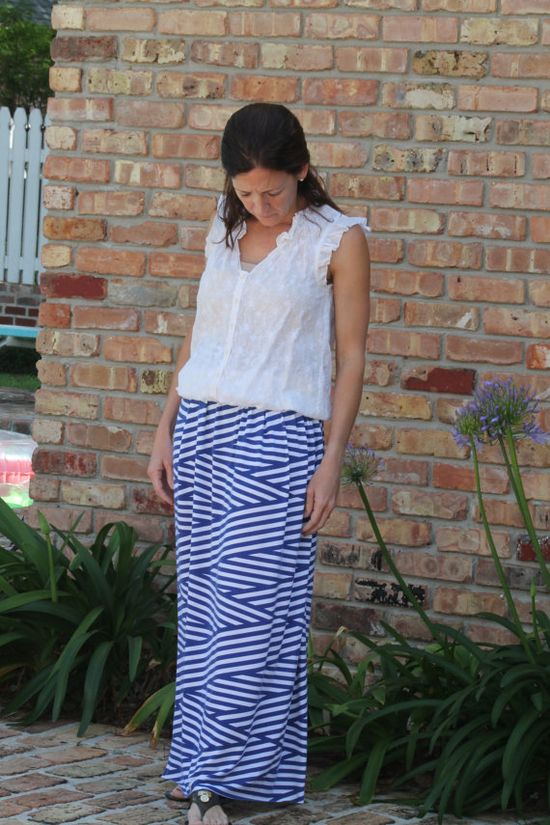 Knit Maxi Skirt sewing pattern for Women sizes by SeaminglySmitten, $8.50