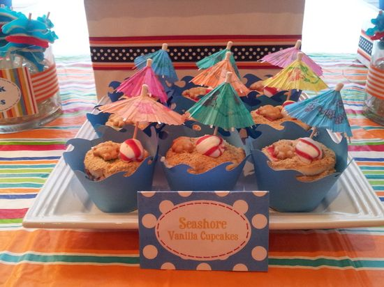 Beach cupcakes #cupcakes #beach