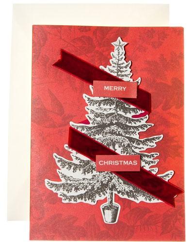 red velvet Christmas card
