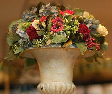 Dried floral, dried flower arrangement
