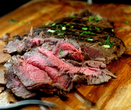 Asian marinated, grilled flank steak