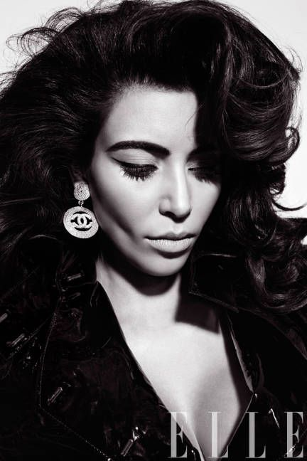 Kim Kardashian for @ELLE Magazine (US) Magazine (US) Magazine (US) Magazine (US) Magazine (US), styled by Nicola Formichetti, in vintage Chanel earrings....must have these!!!